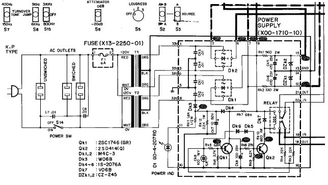 Kenwood 7300 power supply schematics