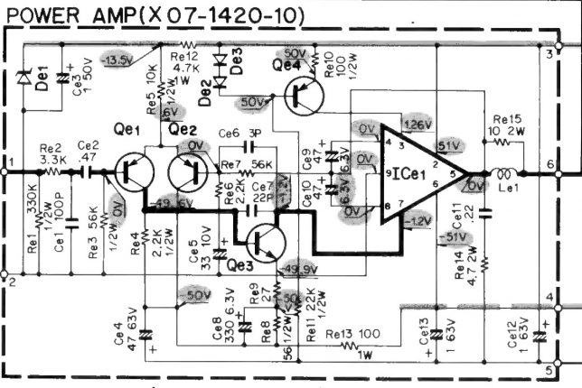 Kenwood output IC schematics