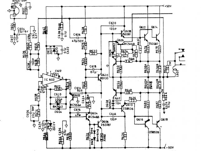 NAD 3080 output stage schematics