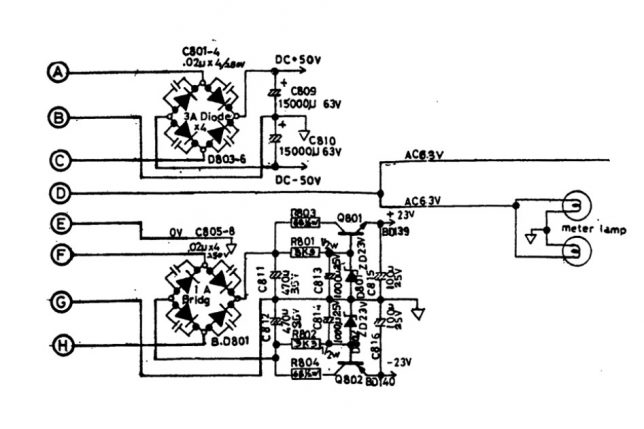 NAD 3080 power supply schematics
